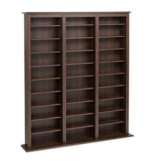@Overstock.com - Prepac Everett Espresso Barrister Media Storage Cabinet - Perfect for holding all of your favorite movies, video games, and CDs. this large media storage cabinet has adjustable shelves to hold all your media products. Made with deep espresso wood and 27 shelves, this cabinet can hold everything you want.  http://www.overstock.com/Home-Garden/Prepac-Everett-Espresso-Barrister-Media-Storage-Cabinet/5978180/product.html?CID=214117 $224.99