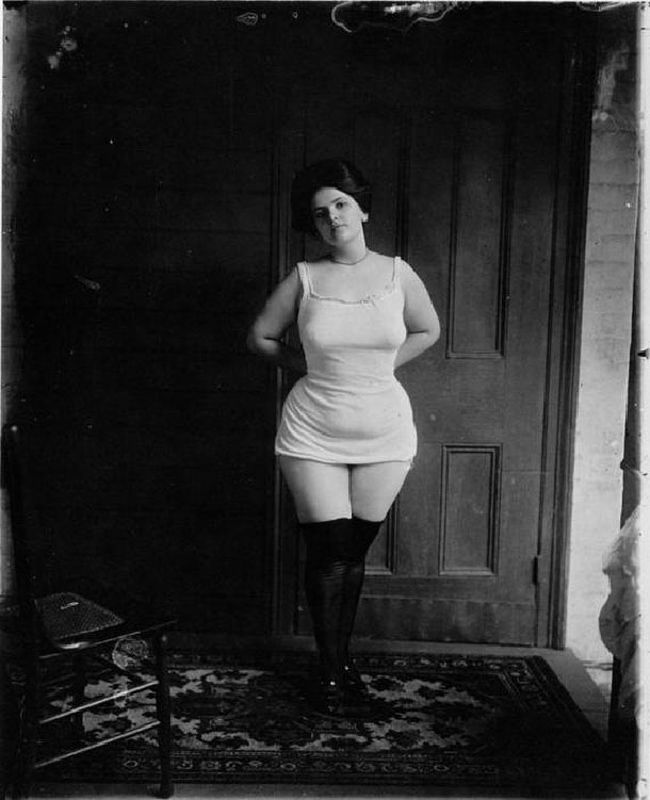 """In an attempt to control the rampant prostitution in New Orleans in the early 1900′s, the City Council legalized prostitution in 1898 in a 38-block area of the French Corner. Dubbed, """"Storyville,"""" after the council member who proposed the idea; the area remained a red light district until 1917. Photographer E.J. Bellocq, secretly documented the prostitutes in Storyville and later published them in a book """"E.J. Bellocq Storyville Portraits""""."""