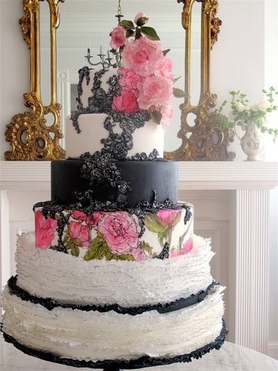 1000 images about classy black white cakes on pinterest audrey hepburn cake cakes and. Black Bedroom Furniture Sets. Home Design Ideas