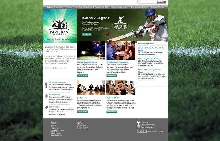 Identity and website design for state-of-the-art multipurpose events venue.