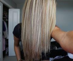 Platinum highlights with medium (ash) blonde lowlights