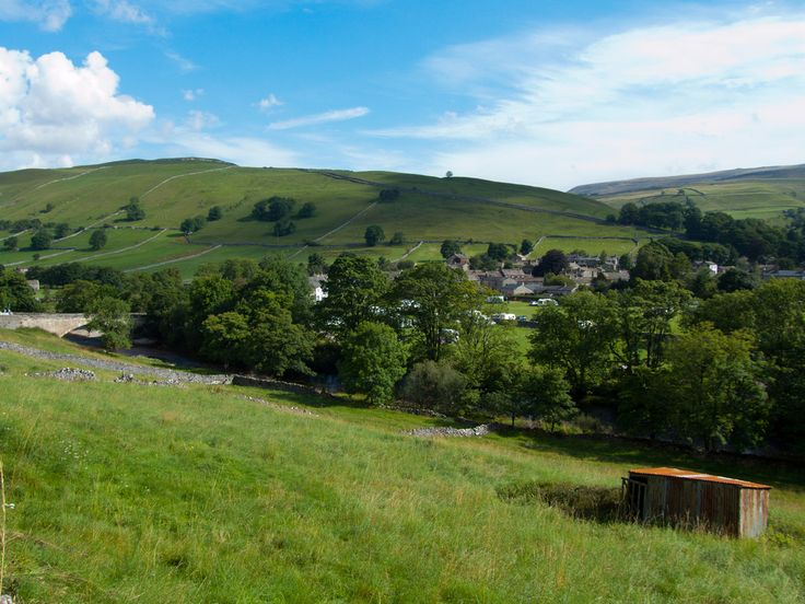 Kettlewell is Anglo Saxon and is derived from Chetelewelle meaning a bubbling spring or  stream.  Upper Wharfedale, #Yorkshire_Dales National Park, #England.  https://www.flickr.com/photos/akandbdl/6064932755/
