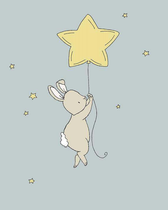 Bunny kinderkamer kunst:   Dit lieve kleine konijntje is drijvend tot de sterren.  U kunt deze afdrukken naar alle kleuren die u kiest, hetzij uit de kleurenkaart of een foto of link, liet me enkel weten en ik kan voor u een aangepaste lijst maken!  * Worden ervoor dat u uw maat selecteert in de drop-down box hierboven.  Hier op zoete melodie ontwerpen houden wij van het maken van leuke kunst voor uw kleintjes kamers. Wij geloven in de verbeelding van kinderen te stimuleren en hen een mooie…