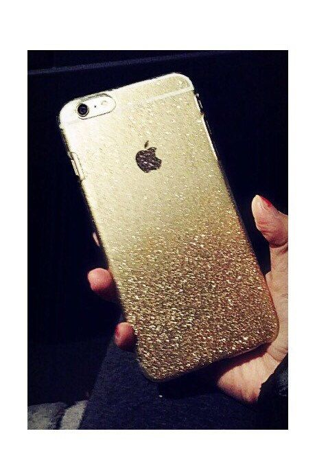 This listing is for one Gold / Silver hard case for iPhone 6 4.7 or iPhone 6 Plus 5.5 inches (your choice) - All cases are handmade, unique, and