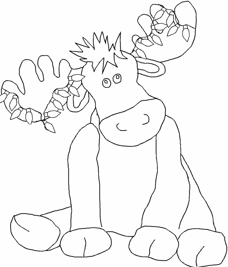 camp moose on the loose coloring pages | 43 best If you give a moose a muffin images on Pinterest ...