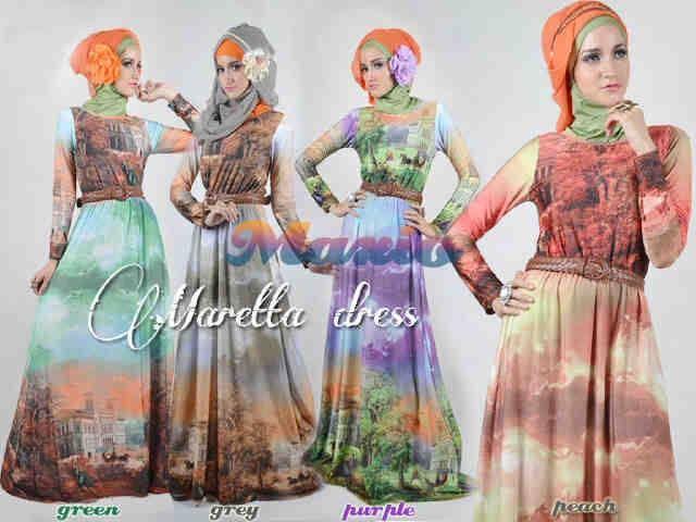 @95RB STOK OREN .. NORMAL @113RB ,, Maretta Dress.(spandex printing import)+ free Belt