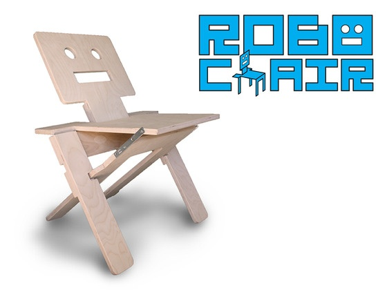 RoboChair was designed for three purposes: to be entertaining, to be displayable, and to be awesome. It all started with a simple robot sketch, and then the question came: How cool would it be if that folded into a chair?! After weeks of designing and building protoypes, RoboChair 1.0 is finally here.