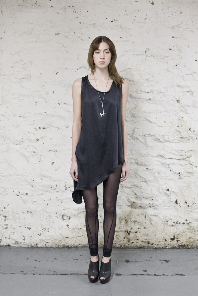 Black Twisted Seam Mesh Leggings /OVATE