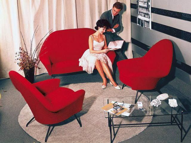 The '770' furniture series produced by French designer Joseph André Motte for Steiner, 1952.