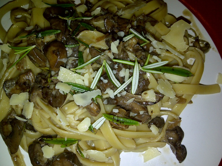 Fettuccine with Chianti Mushroom Sauce