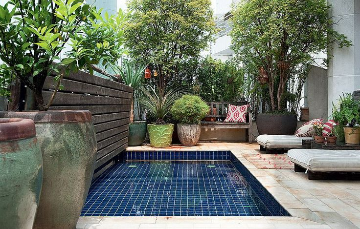 Urban garden with small pool le jardin pinterest for Garden city pool jobs