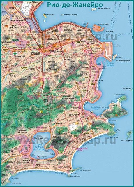 Карта дорог Рио-де-Жанейро