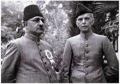 Quaid e Azam Muhammad Ali Jinnah great Leader of Pakistan with Liaquat Ali khan