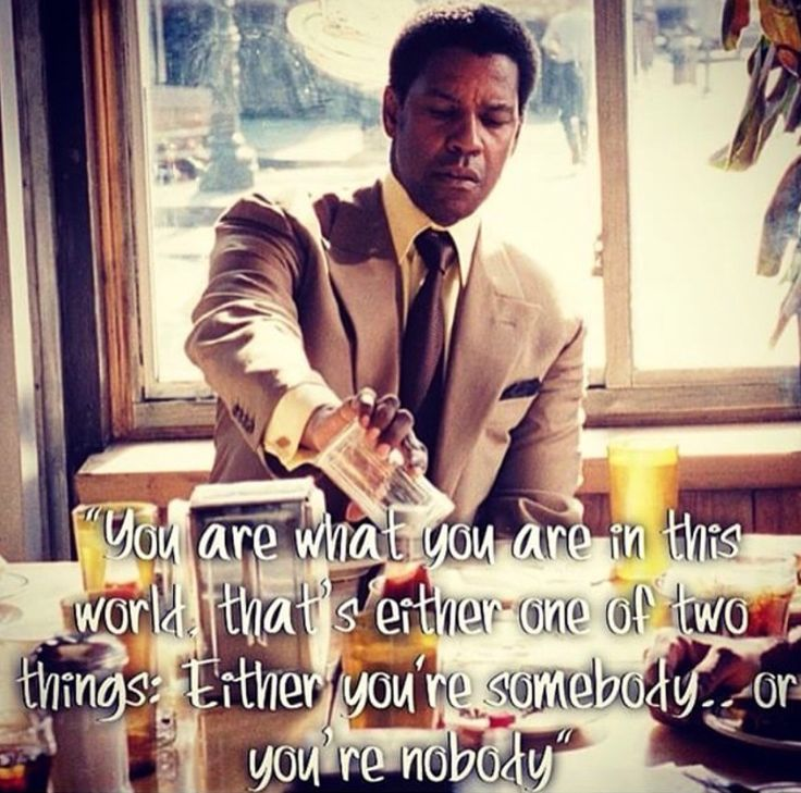 """American Gangster"" - Denzel Washington"