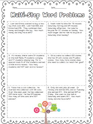 1000+ images about multi step word problems on Pinterest ...