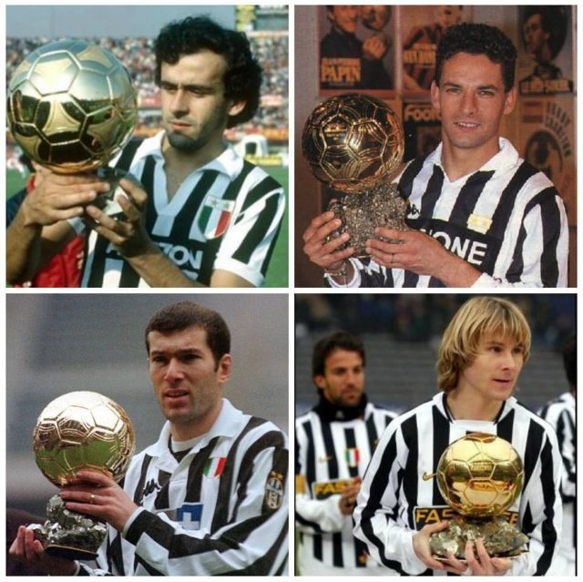 Juventus Ballon D'or Winers