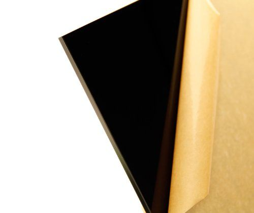 """Cast Acrylic Sheet, Translucent Black, 12"""" X 12"""" X 0.236"""" Size, 2015 Amazon Top Rated Plastic Sheets #BISS"""