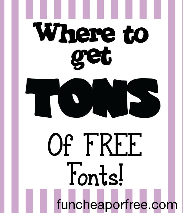 Blog post at Fun Cheap or Free : Happy Friday!I've been working on a load of new posts (not easy with a newborn and 2 toddlers...) and needed some cute fonts. I've been havi[..]