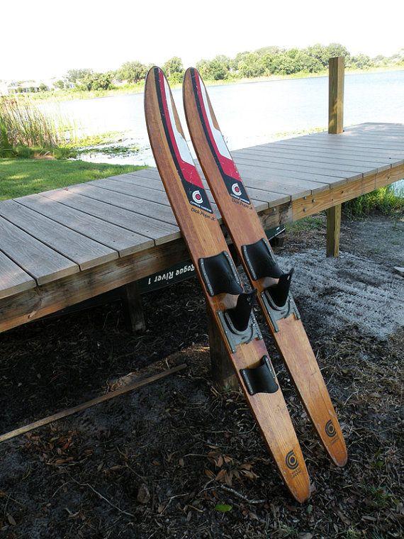 vintage dick pope jr water skis for sale