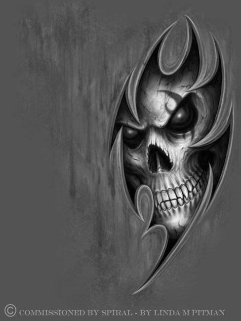 25 best ideas about evil skull tattoo on pinterest skull sleeve tattoos skull sleeve and. Black Bedroom Furniture Sets. Home Design Ideas