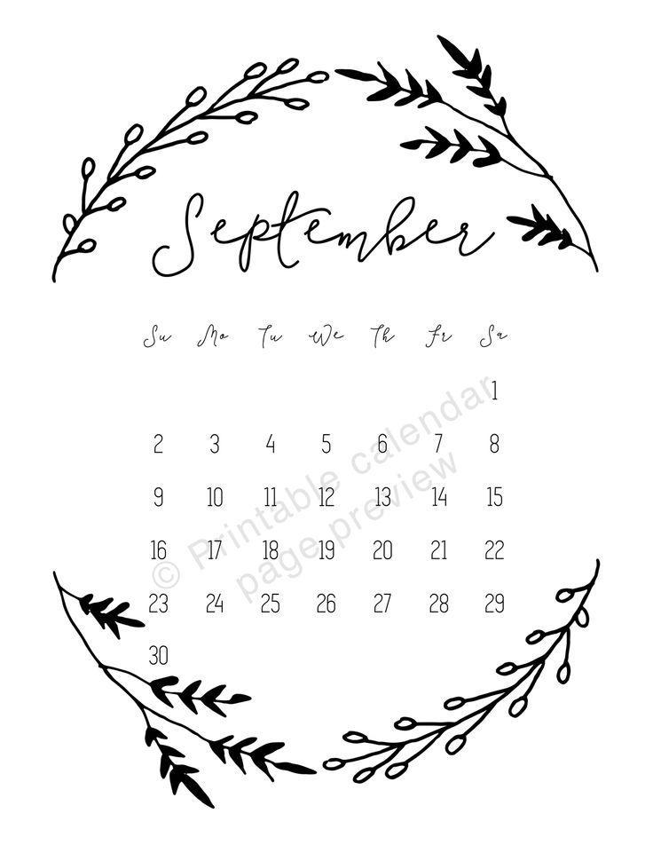 september printable calendar 2018