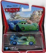 Disney Pixar Cars 2 Carla Veloso # 8 Diecast New 1:55 by MATTEL. $13.19. NOT RECOMENDED FOR 3 YEARS AND UNDER. BRAND NEW RELEASE. 1:55 SCALE DIECAST. COLLECT THEM ALL. BUY YOURS NOW BEFORE THEY ARE GONE!!!!. carla veloso