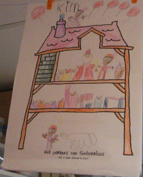 Teken het huis van Sinterklaas
