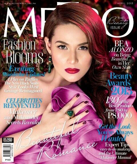 Beautiful Romance: Bea Alonzo on Metro's Beauty Issue 2013!