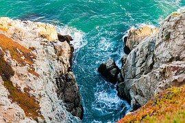 Ocean, Rock, Sea, Nature, Landscape
