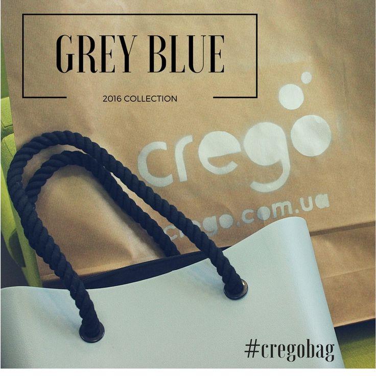 ❄️❄️❄️Grey Blue Crego сумочка, с ручками канатами черного цвета прекрасно вписывается в любой осенне-зимний гардероб. 💙💙💙Цена в такой комплектации корпус, черная текстильная подкладка, черные ручки канаты - 1500 гривен #cregobag, #сумкиукраина, #сумки, #rubberbag, #каучуковыесумки #зима