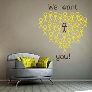 Vinilos Frases Inglés We Want You  #vinilos #casa #hogar #vinilosdecorativos