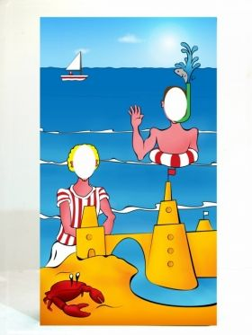 pinterest seaside illustrations | Seaside Theme Party: Seaside Peep Thru Board Beach