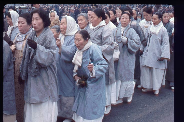 Seoul, 13 Feb 1966. Religious procession. Photo by Stephen Dreher.