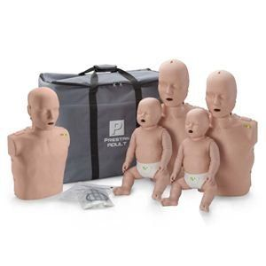 Prestan Family Pack Of Cpr Manikins (2 Adults, 1 Child, & 2 Infants) With Compression Rate Monitors, Medium Skin Tone, 2015 Amazon Top Rated Anatomical Models #BISS