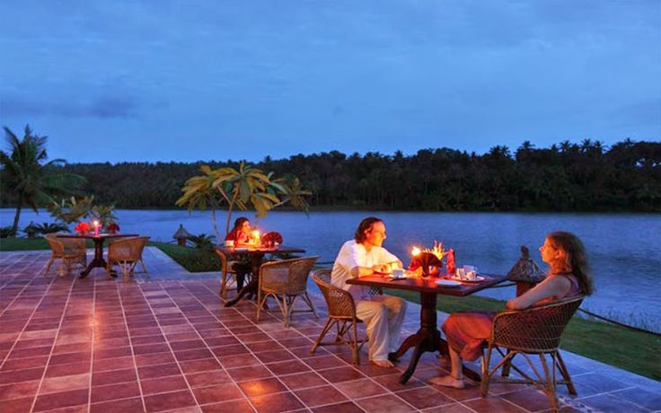 A quiet sit out next the #coffee #shop at the #Fragrant #Nature #Resort with the #Mala #Lake on the other side - A #RareIndia #Retreat Explore: http://bit.ly/VOPNID