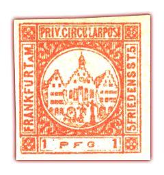 In Frankfurt am Main des 19. Jahrhunderts gab es gleich vier Privatpostanstalten: