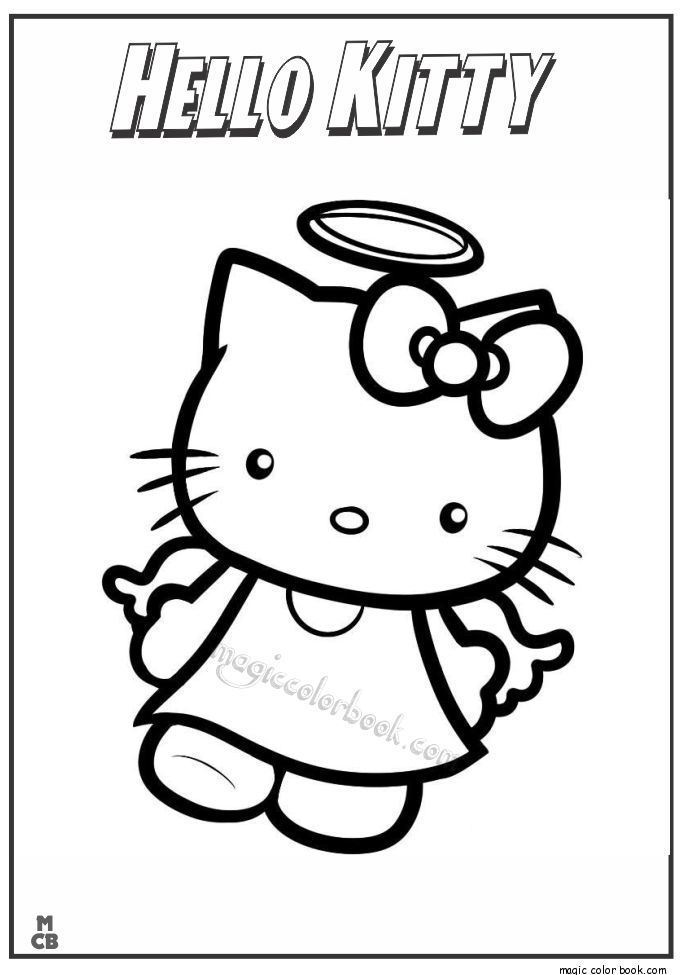 Hello Kitty Coloring Colour Book