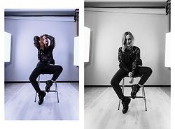 Serena Pirredda - Ovs Black Blouse, Timberland Black Boots, Ovs High Waist Trousers - You don't know (me)