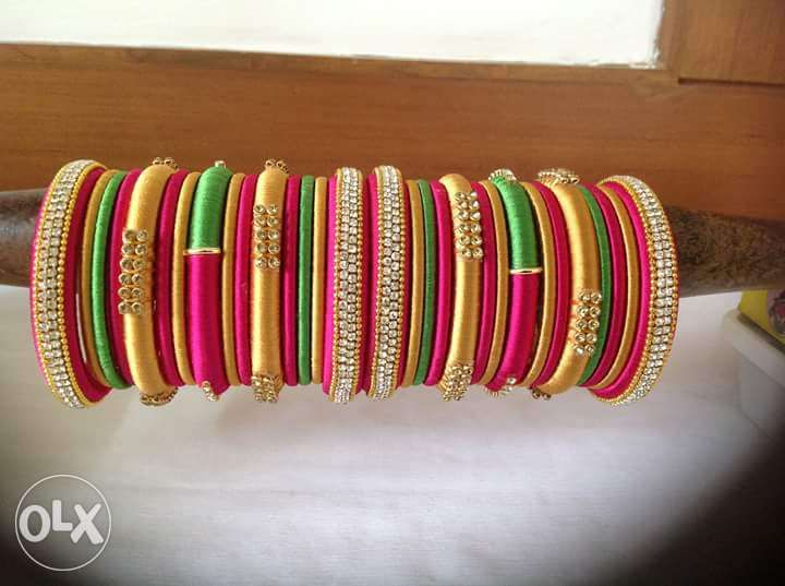 23 Best Images About Silk Thread Bangles On Pinterest Traditional Jewellery And Red Green