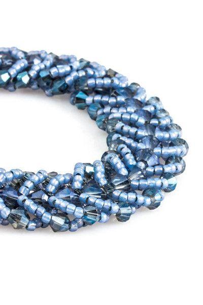 Bransoletka - Spiral flat stitch 02SF - Molyart - Bransoletki z koralików