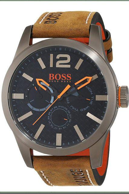 27d889dca57e Hugo Boss Orange Paris Herren-Armbanduhr Quartz mit braunem Leder Armband  1513240 Herrenuhr  herrenuhr  MensWatch  jewelry  fashion  MensFashion   HugoBoss