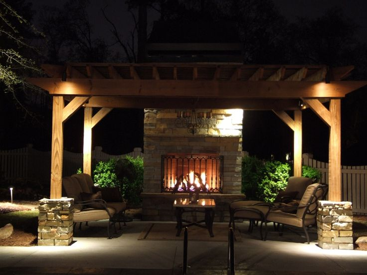 backyards with firepits - Bing Images  For a back deck idea.