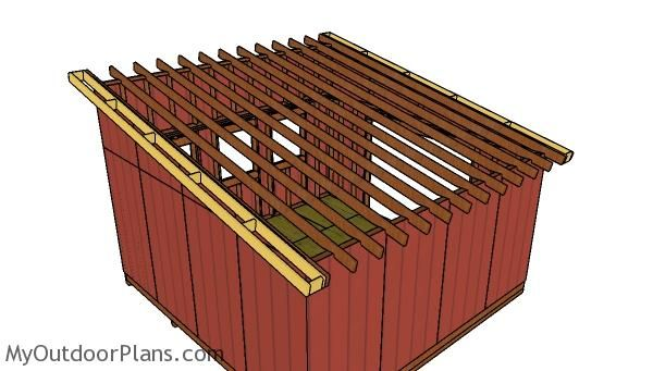 16 16 Lean To Shed Roof Plans Woodworking Wooden Playhouse