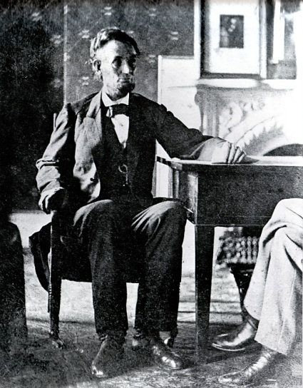 Abraham Lincoln in the White House, by Anthony Berger, a photographer working for Mathew Brady.