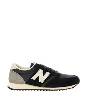 New Balance 420 Black And Grey Suede Trainers