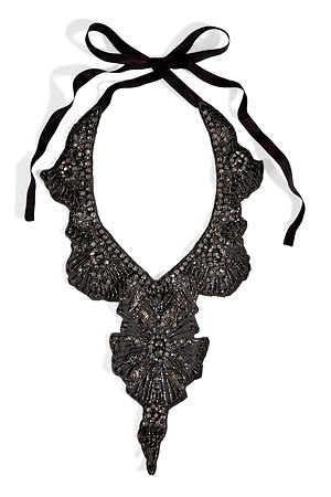 STYLEBOP.com | AnthraciteCrystalEmbellishedNecklacebyHOSSINTROPIA | the latest trends from the capitals of the world