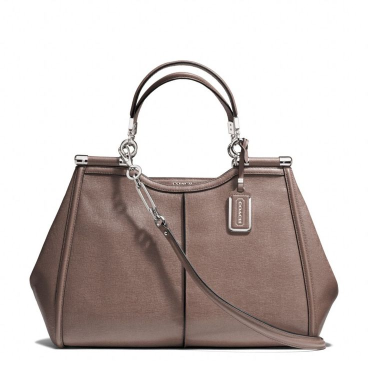 The Madison Caroline Satchel In Textured Leather from Coach - this purse is totally gorgeous in person