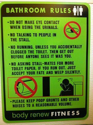 Funny Bathroom Rules Signs 99 best bathroom sayings and signs images on pinterest | bathroom