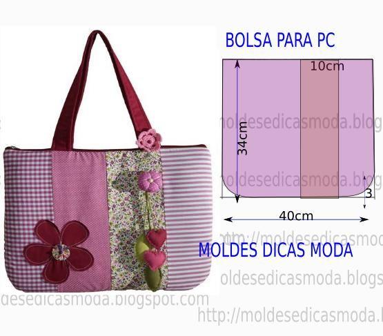 MOLDE DE BOLSA-39 (Moldes Moda por Medida)
