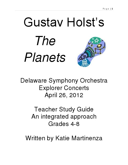 Logic and set theory grade fifth five 5 lesson plan: Gustav Holst's The Planets